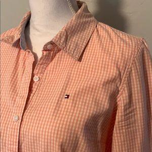 Tommy Hilfiger Peach Gingham Shirt